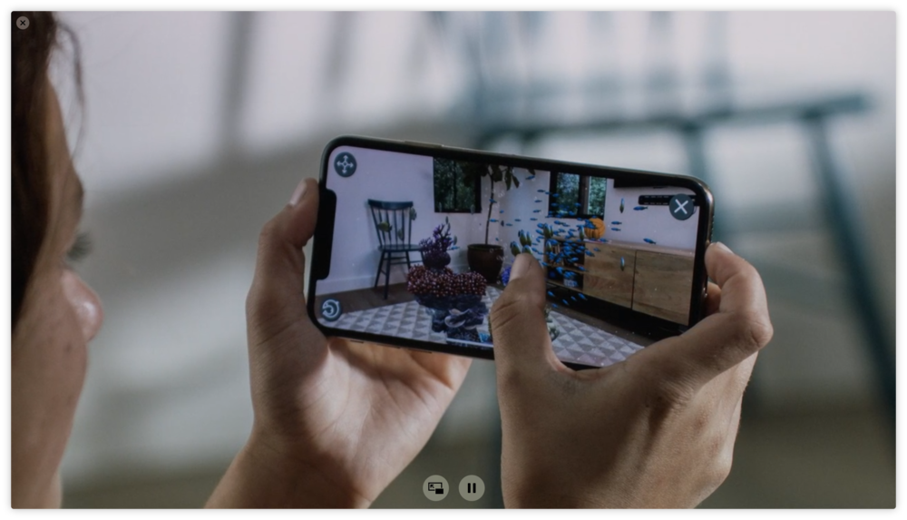 Apple actually showed a picture of someone using an AR app. Rather than just showing the AR app itself. Ridiculous.