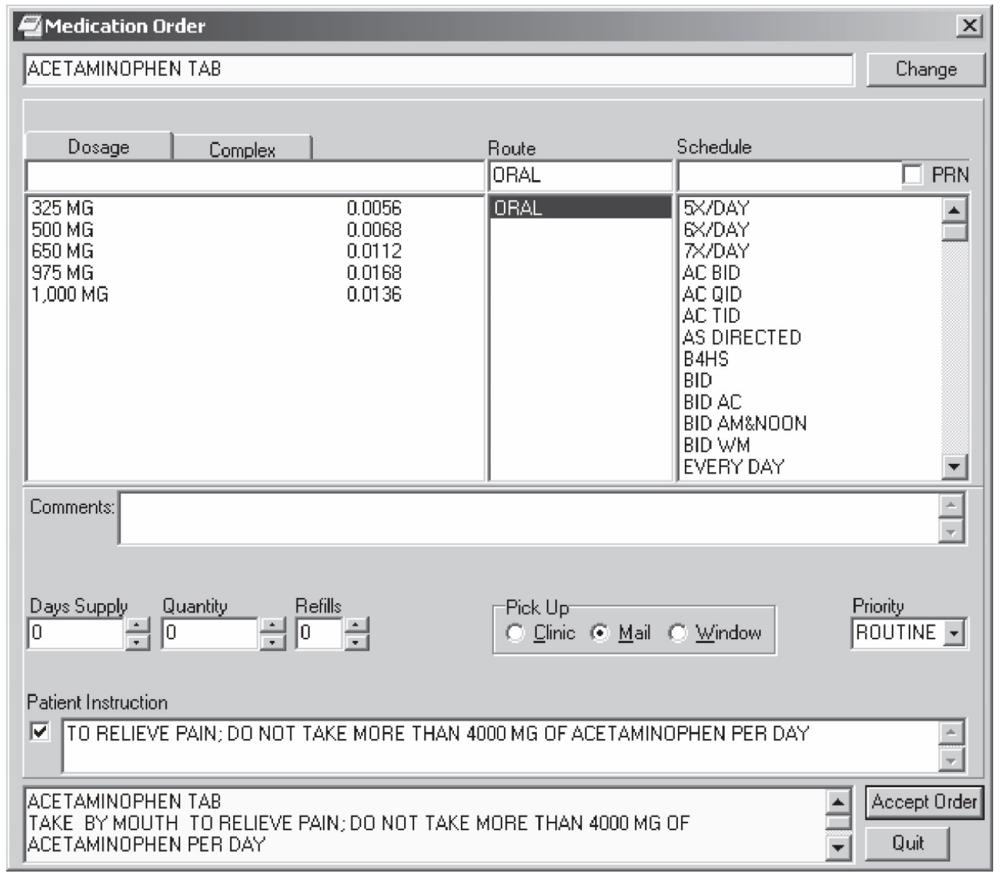 Screenshot from  Primacy Informatics Primer