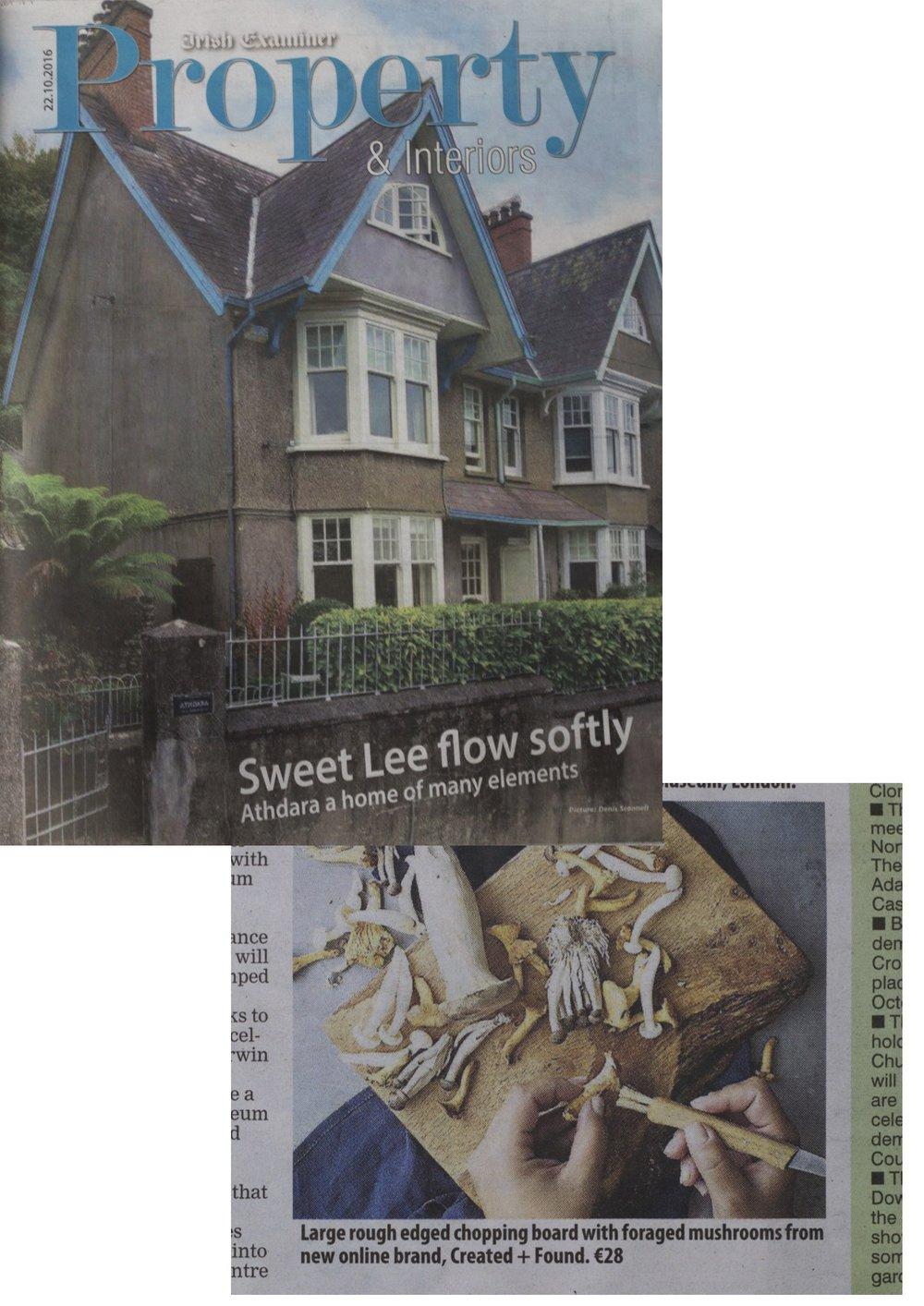 Created and Found, an Irish made homeware range seen in Property magazine of the Irish Examiner