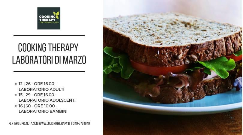 Cooking Therapy dott.ssa Roccaro laboratori marzo