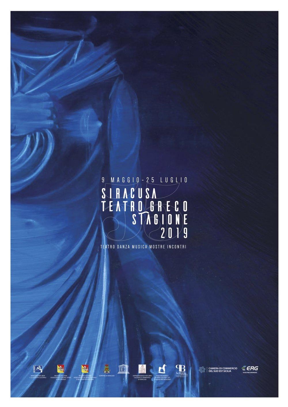 manifesto INDA 2019 - Teatro Greco Siracusa 55° edizione