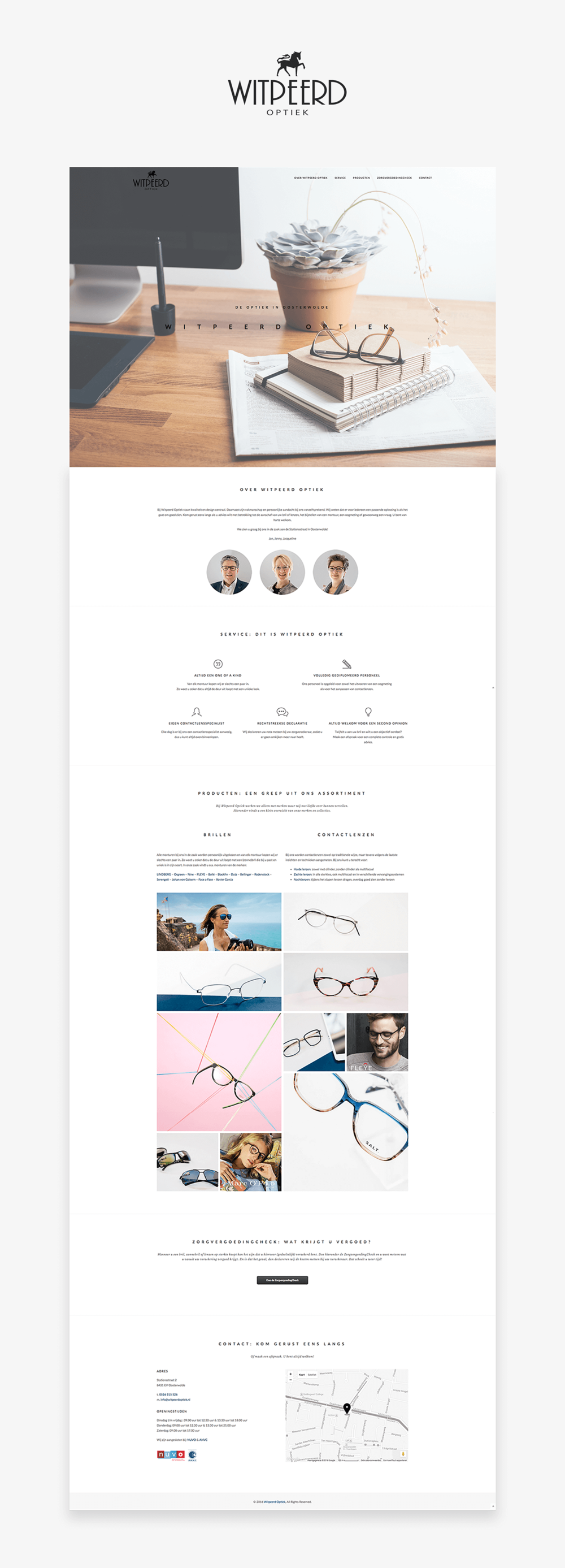 FLNRS :: Wireframe website Witpeerd Optiek
