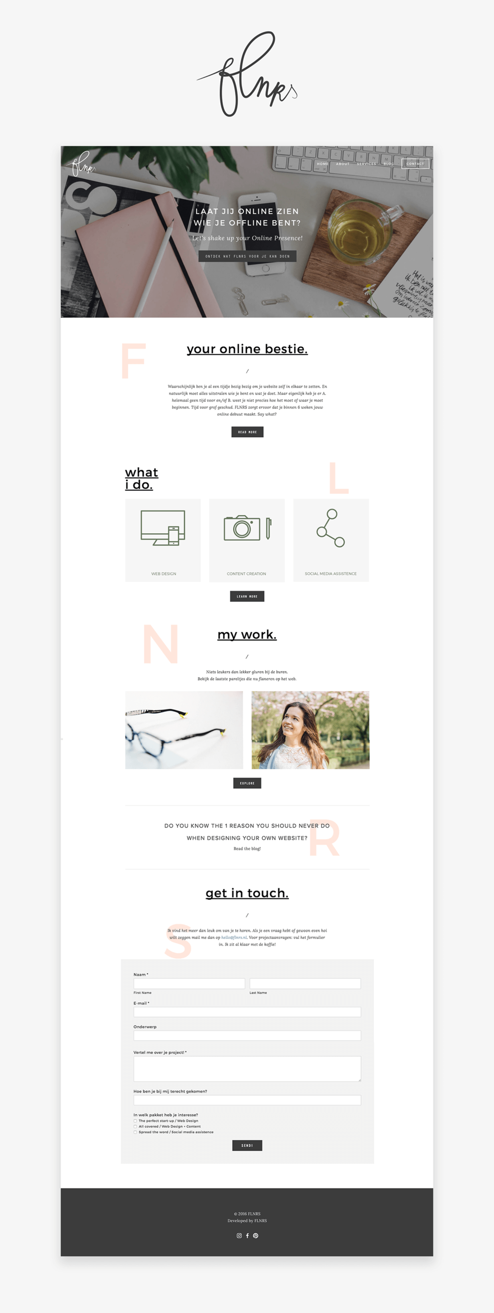 FLNRS :: Wireframe website FLNRS