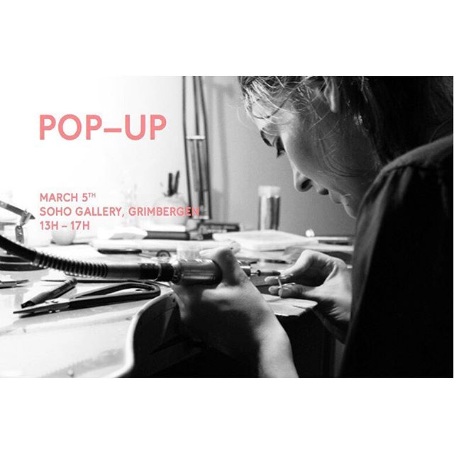 SUNDAY, MARCH 5th @soho.gallery || POP-UP #MELANIEVANDOOREN || let's get your jewellery personalized with your initials of choice 🔨 SEE YOU THERE! #customize #popup #initials #melanievandooren #sohogallery #handcraft #jewellery #seeyouthere!