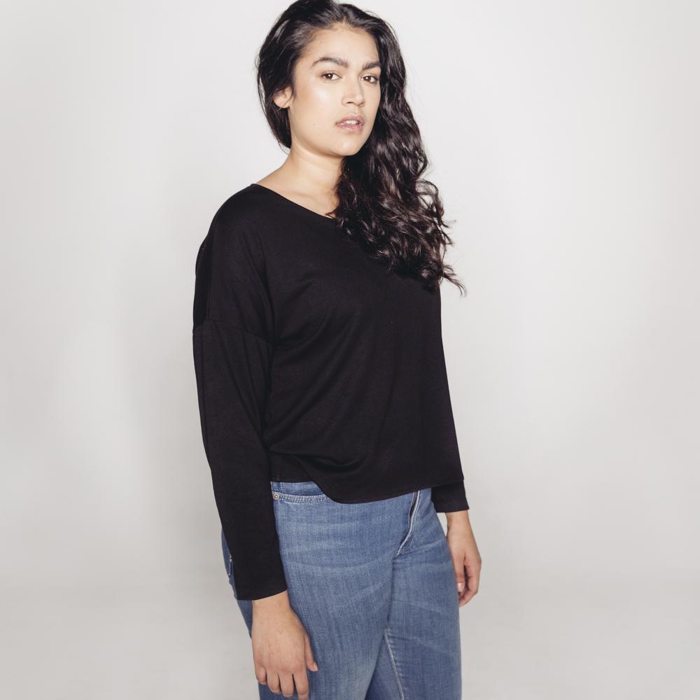 Dorsu Slip On Long Sleeve -Black AUD $39
