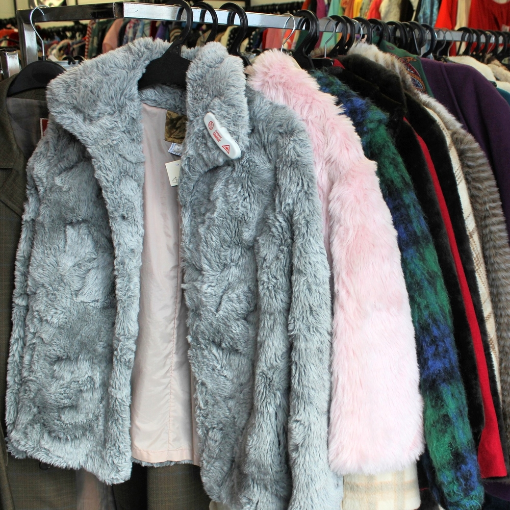 Because who doesn't need a faux fur coat in grey and baby pink?