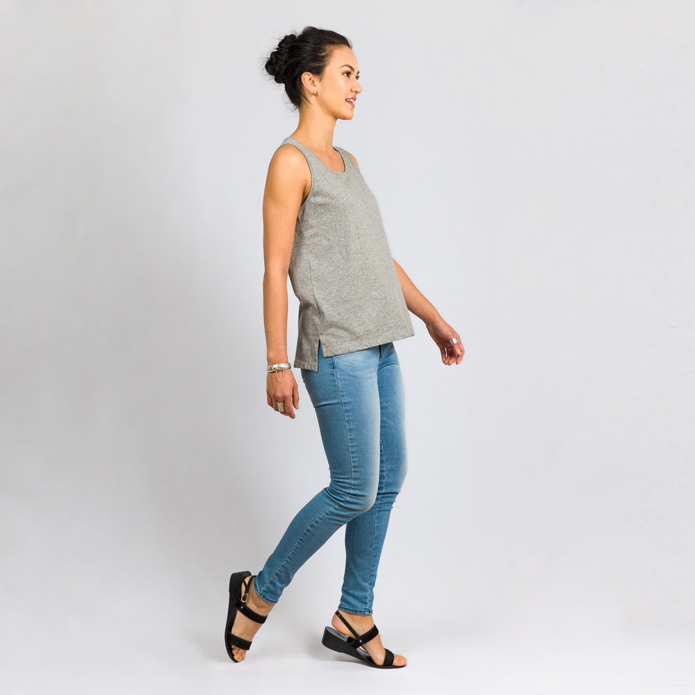 Cotton Tank Grey Marle (NZD $40)