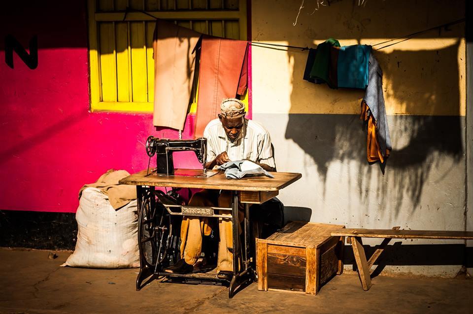 Tailor in Taveta, Kenya. Image Credit:  Andy Ferrington
