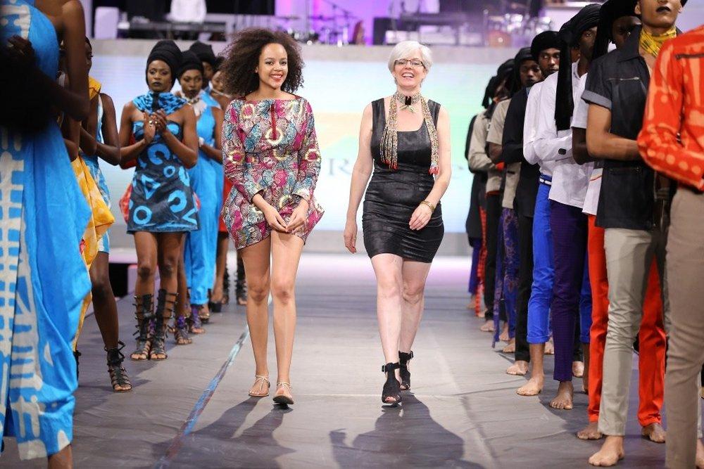 Kiko Romeo  is a Kenyan based fashion success story. Ann McCreath (right) is the MD and Head Designer.