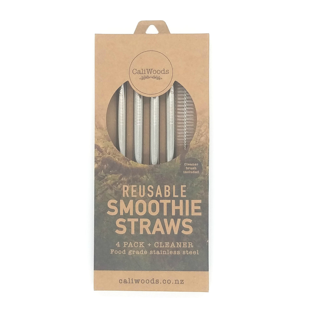 CaliWoods Reusable Smoothie Straws NZD $19.90