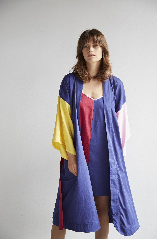 Colour Block Robe