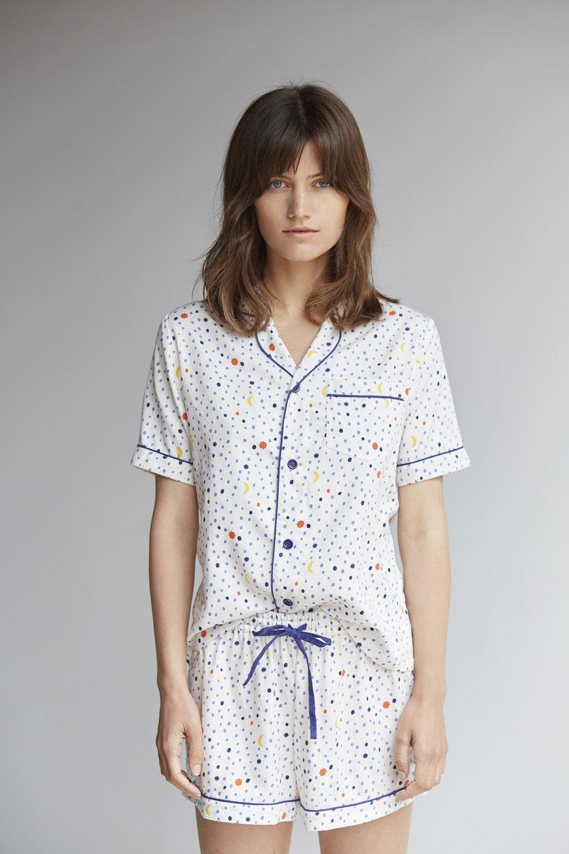 Telecsope Short Sleeve Pyjama Set