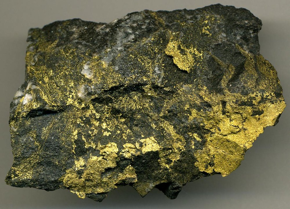 An example of extremely high grade gold ore from northwestern Ontario's Red Lake Mine (photo credit: Wiki Commons)