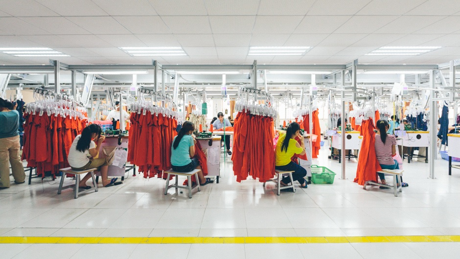 Everlane  works transparently and ethically with several factories in high risk countries, like this cashmere knitting factory in China.