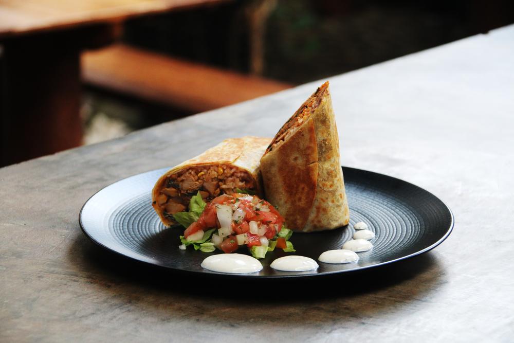 Jackfruit Burrito