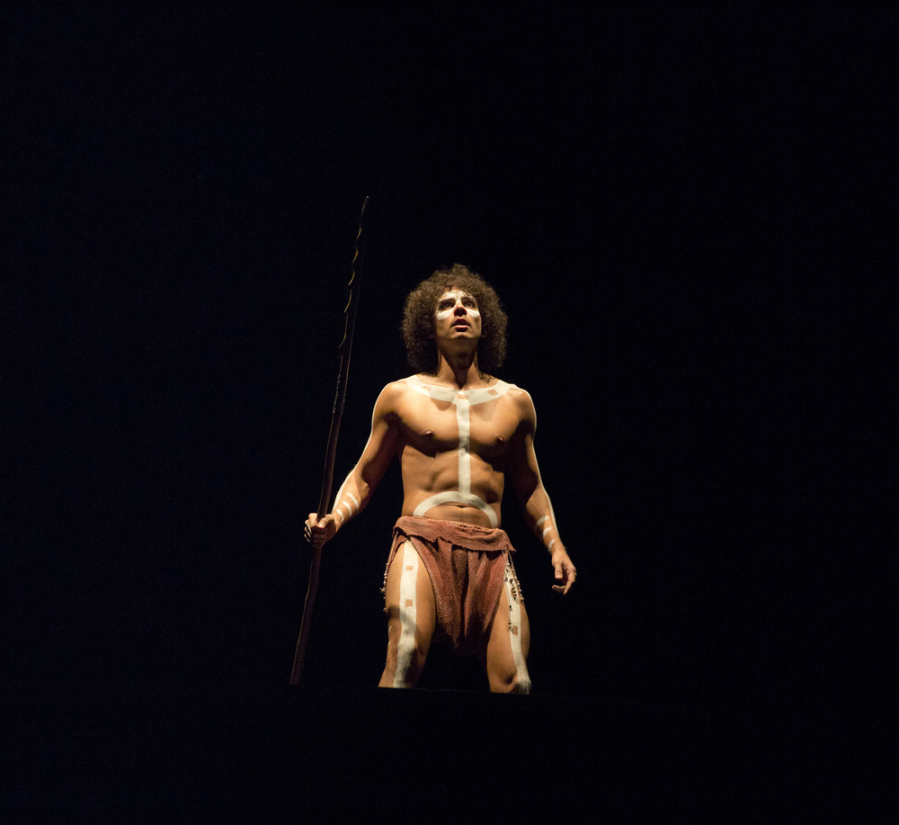 Playing The Aborigine in Our Country's Good at the National Theatre. Photo by Donald Cooper.