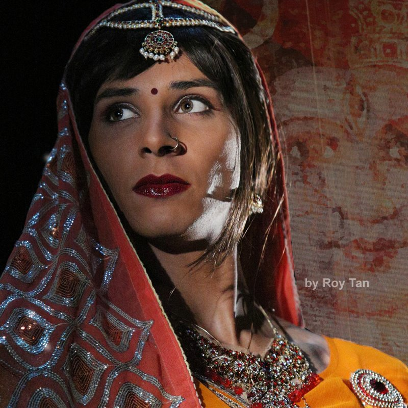 Playing Shakti in The House of In Between at the Theatre Royal Stratford East. Photo by Roy Tan.
