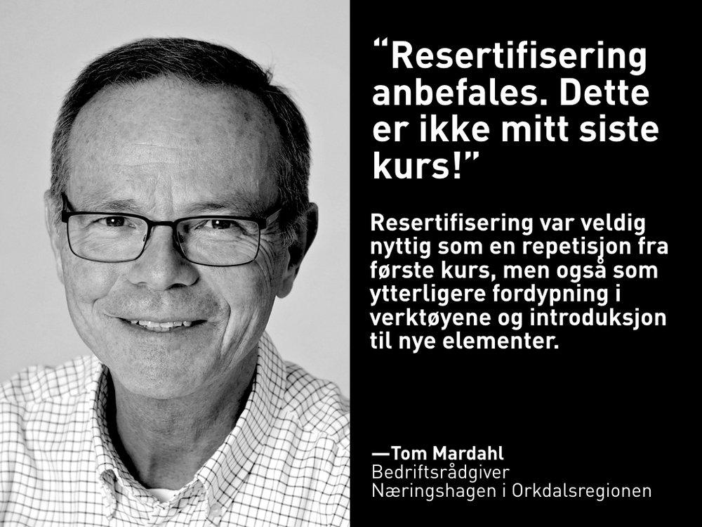 Tom Mardahl, Næringshagen i Orkdalsregionen