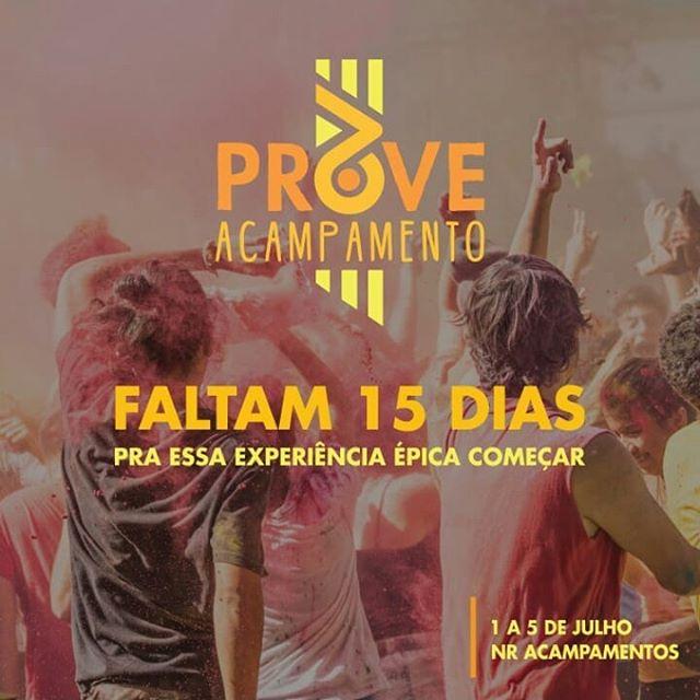 O Acampamento Prove tá chegaaando!!! Vocês estão preparados!? 💚  #AcampamentoProve #vaiserépico #VemCamp