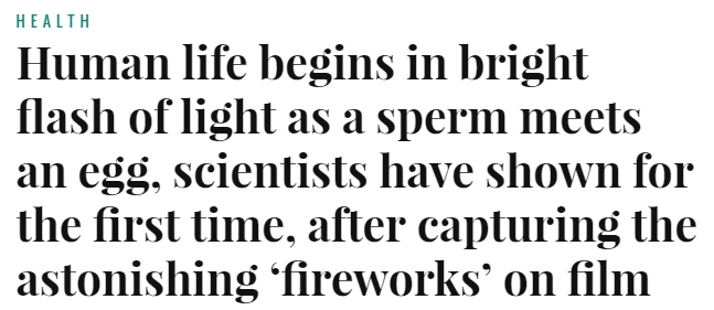 Waking Science Headline