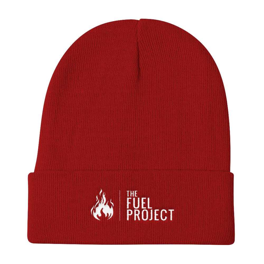 Fuel Logo Beanie (Red) || $25