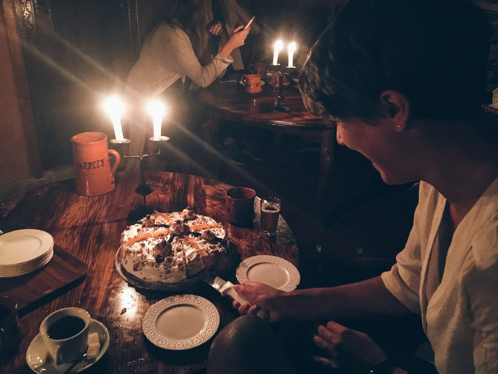 Celebrating Lily's birthday in Imlil