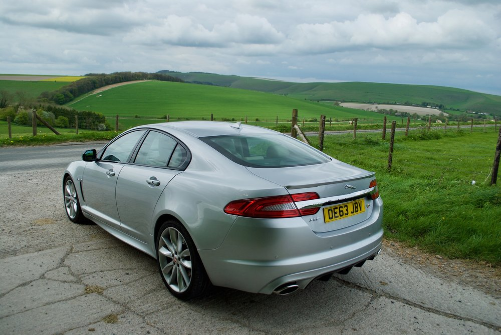 Jaguar XFS on a wedding pre-run
