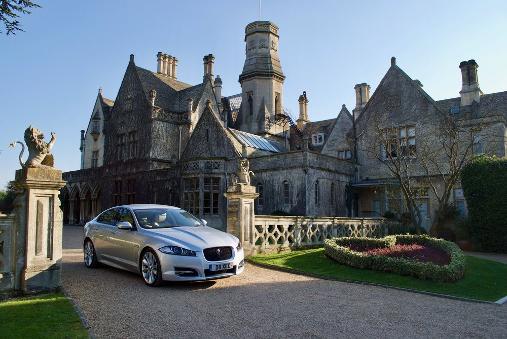 Jaguar XFS outside Manor By The Lake