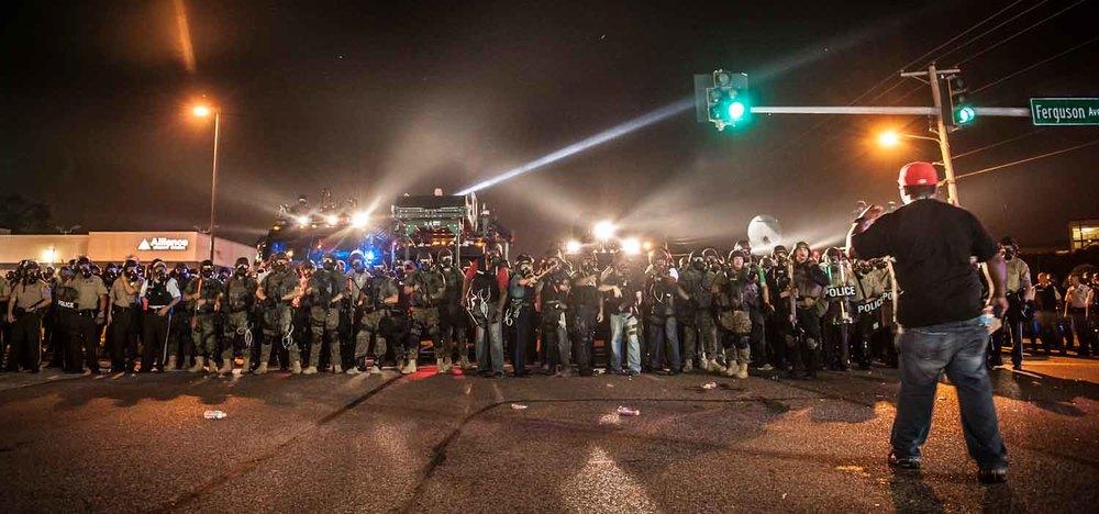 Ferguson Riots, 2014. W. Florissent and Ferguson Ave.