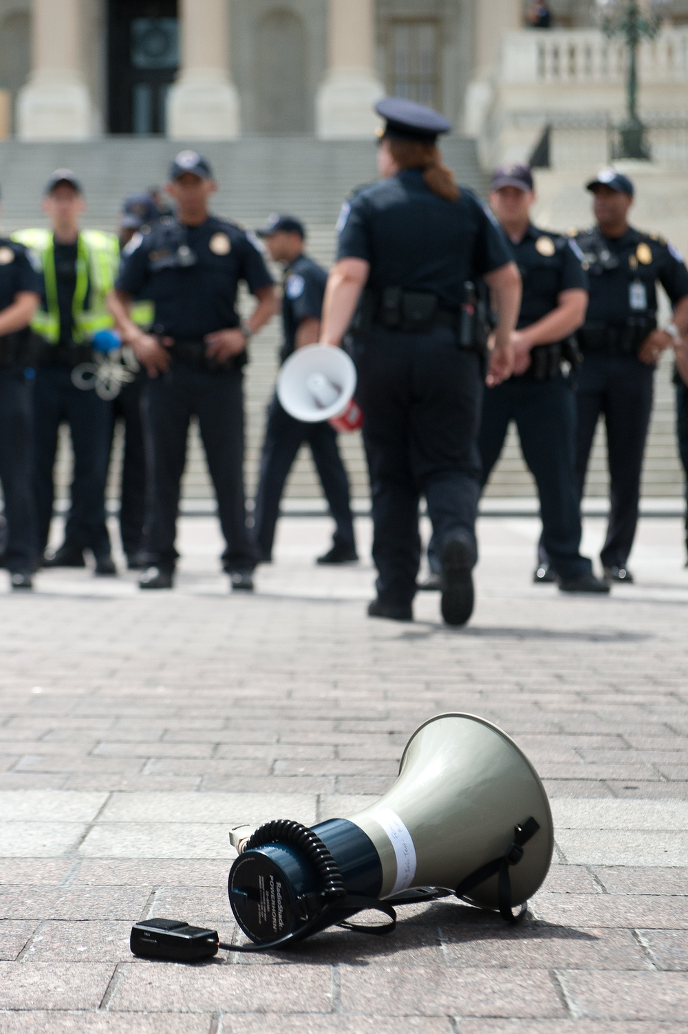Immediately after arrests were made during an Occupy Congress action on the Eastern approach to the US Capitol. (May 15th, 2012)