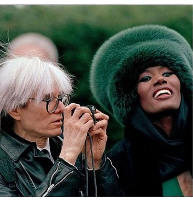 Andy Warhol & Grace Jones 😩😍🔥 #Legends #Art
