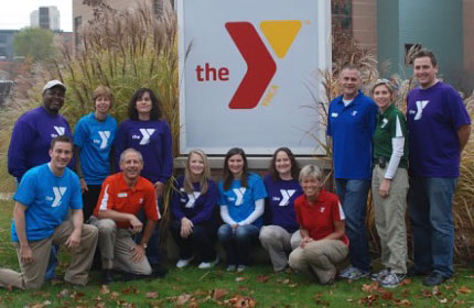 Staff at opening of new Y facility in Ann Arbor 2005