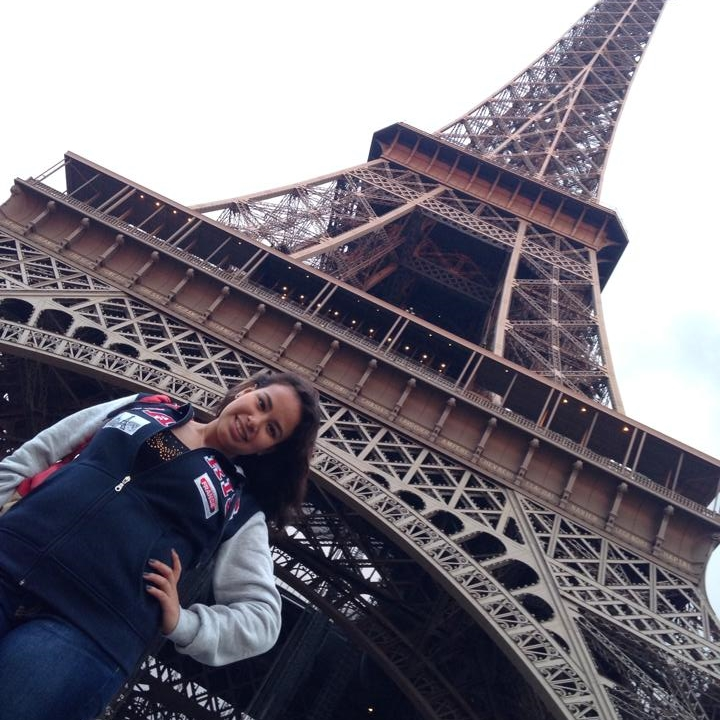 Student under Eiffle Tower
