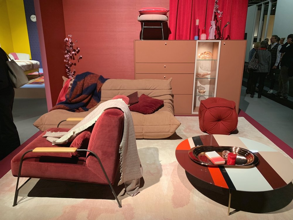 Ligne Roset in paprika & blush