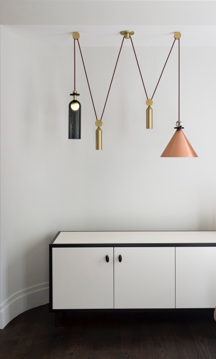 Shape Up by Ladies and Gentlemen Studio for Roll and Hill - Ladies and Gentlemen Studio is just hot right now- they're definitely among our current favorite designers, creating innovate and playful products right in Brooklyn. Fitting with the rest of Roll & Hill's collection, this pendant family is elevated with beautiful brass details and impeccable hand-crafted quality.