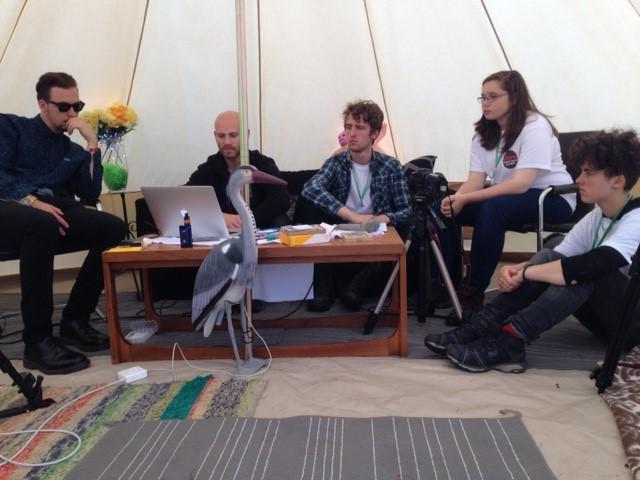 45RPM interview tent - ButeFest 2017