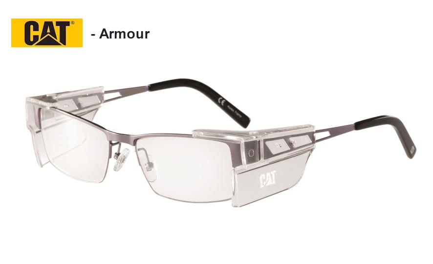 Caterpillar Armour - Semi-rimless frames for lightness.