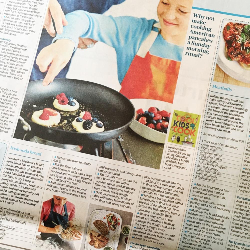 Cool Kids Cook in Telegraph Weekend