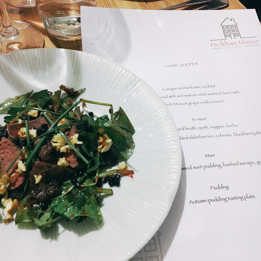 A Game Feast at Ronnie Murray's Peckham Manor supperclub hosted with WeFiFo