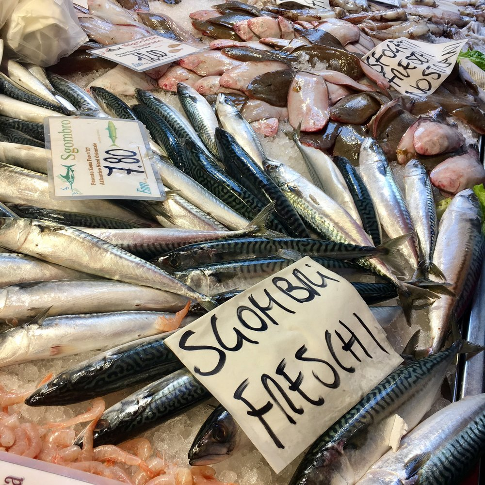 The Rialto fish market, a stone's throw from Alle Testiere, Venice
