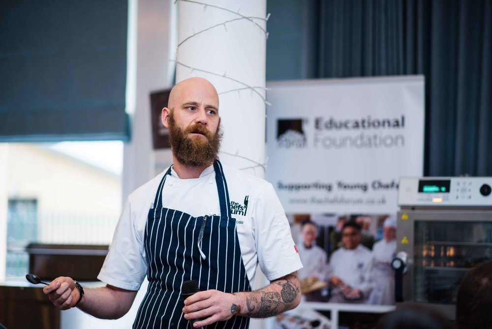 Scott Goss from The Twenty Six at The Chefs' Forum lunch at The Yarrow Hotel