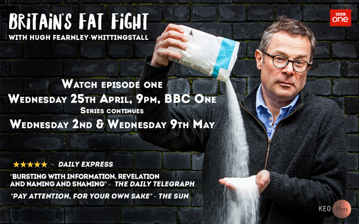 Hugh Fearnley-Whittingstall's new programme 'Britain's Fat Fight' starts on Wednesday 25th.
