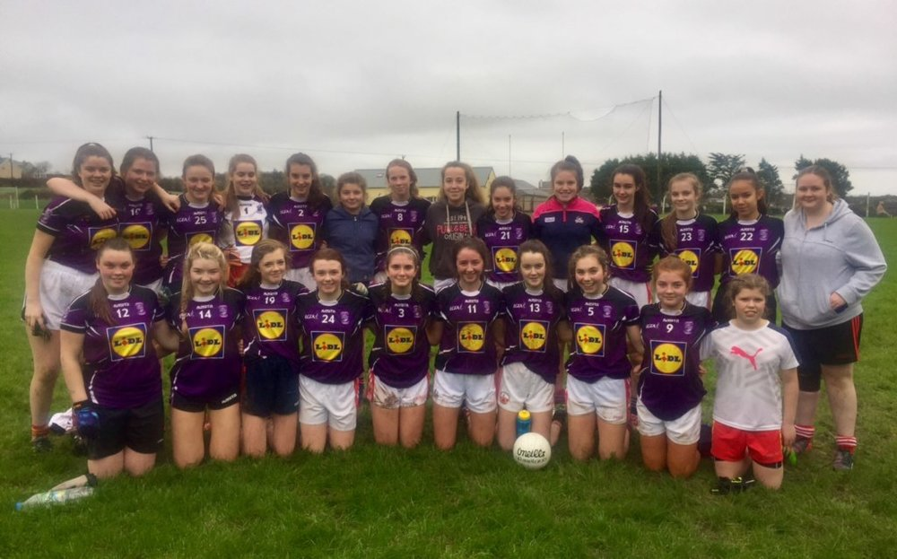 Hard luck to the Junior Ladies Football Team and their coaches, Ms. Ella Ryan and Ms. Kathleen Martin on their narrow defeat to St.Mary's of Mallow today. The final score was 8-12 to 9-5.