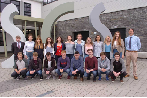 A selection of students from SCS who received over 500 points in the Leaving Certificate 2017