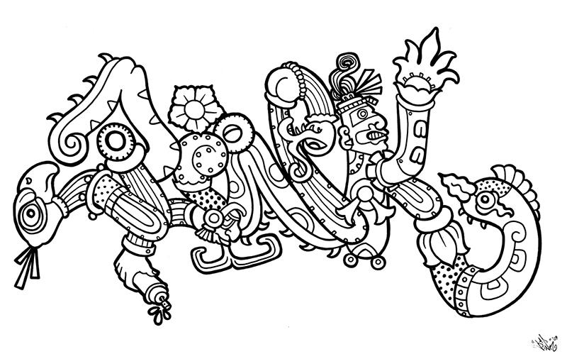 Mayan Pink Piece