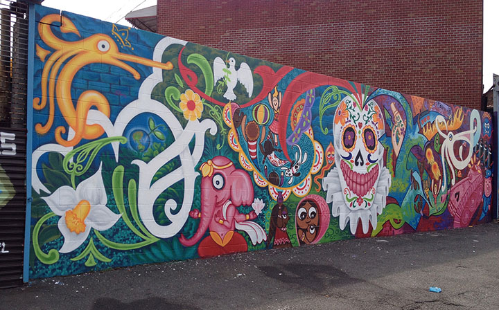 2015 mural painted by Lady Pink and Smith