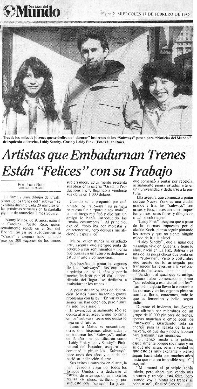 Noticias del Mundo 1982