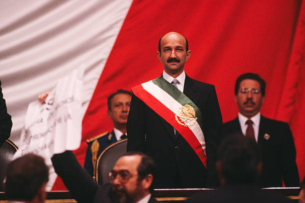 Mexican President Carlos Salinas is sworn in.