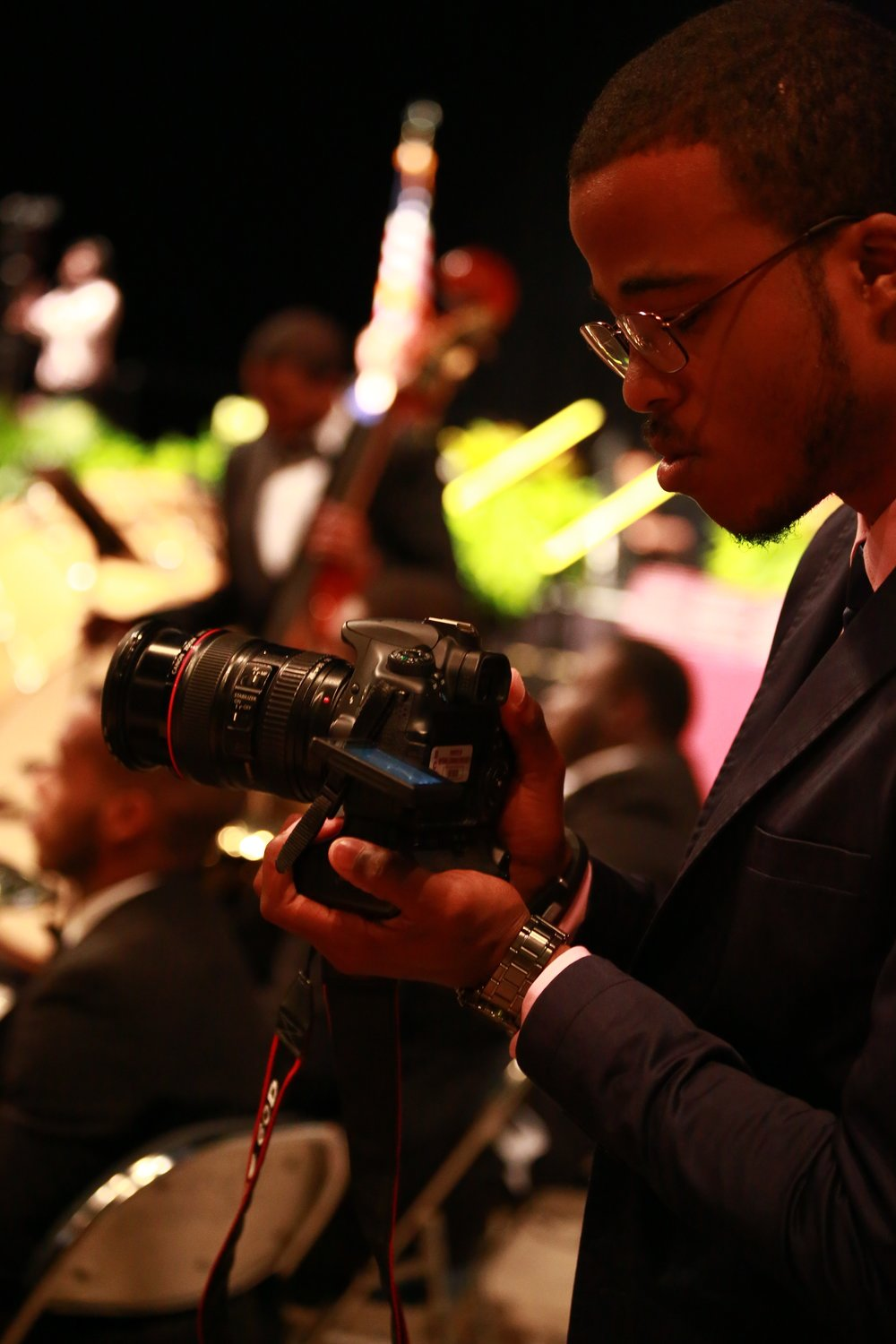 Terrence Shooting footage for University Graduation in Florida. Photo by B Focus Studios.