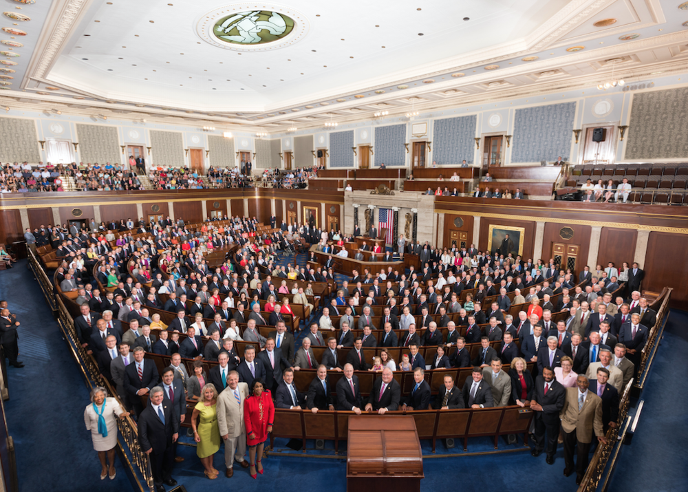 The 114th Congress in the House chamber. Source: Wikipedia